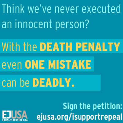 Think we've never executed an innocent person? With the death penalty, even one mistake can be deadly. Sign the petition.