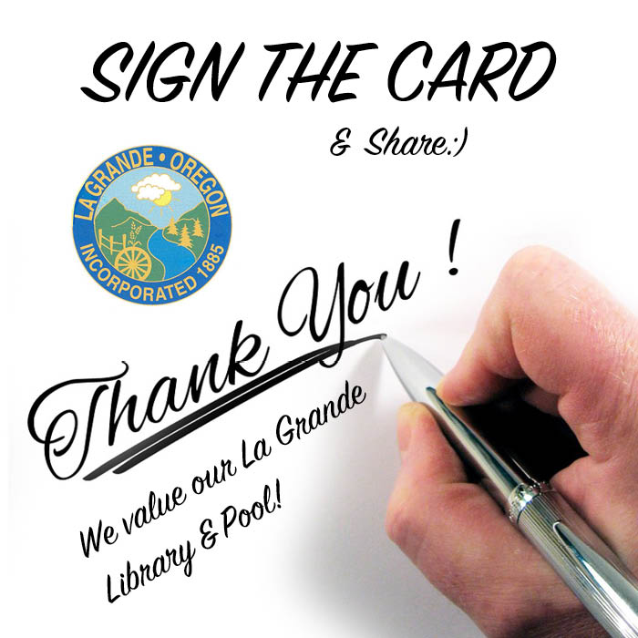 Sign the thank you card now!