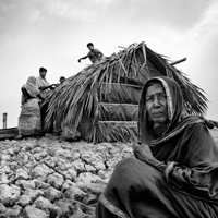 Rural woman in Bangladesh in drought area