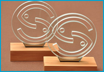 Seafood Champions Award trophies