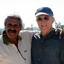 Bill (right) and Daher Nasser at Tent of Nations