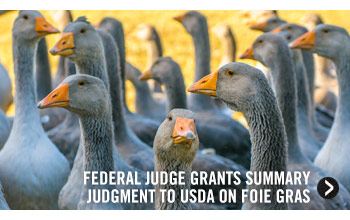 Federal Judge Grants Summary Judgment to USDA on Foie Gras